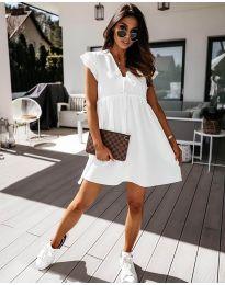 Свободна рокля в бяло - код 2093