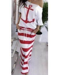 Дълга рокля в червено - код 679