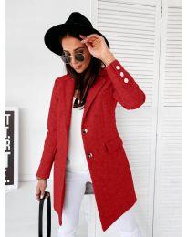 Дамско палто в червено - код 1514