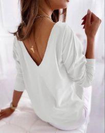 Свободна дамска блуза в бяло - код 5173