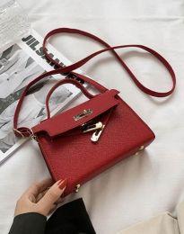 Дамска чанта в цвят бордо - код B398