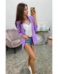 Дамско сако в лилаво- код 8031