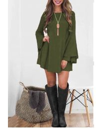 Елегантна рокля в маслено зелено - код 8102