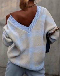 Ефектен дамски пуловер - код 0432 - 2