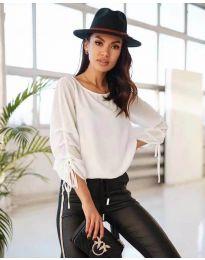 Елегантна дамска блуза в бяло - код 5165