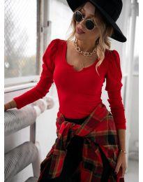 Дамска блуза в червено - код 11493
