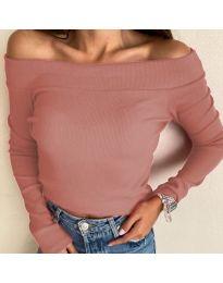 Дамска блуза в цвят пудра - код 3234