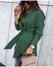 Елегантно дамско сако в  зелено - код 1980