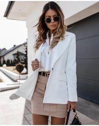 Дамско сако с копче в бяло - код 4569
