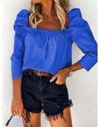 Дамска блуза в тъмно синьо - код 9906