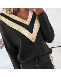 Дамска блуза в черно - код 2190