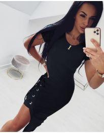 Спортно - елегантна рокля в черно - код 059
