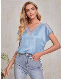 Атрактивна дамска тениска в светлосиньо - код 5754