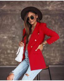 Елегантно дамско сако в червено - код 5255