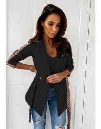 Дамско елегантно сако в черно - код 6023