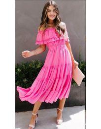 Феерична рокля в циклама - код 699