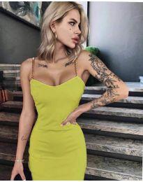 Елегантна рокля в горчица - код 4749