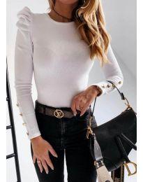 Дамска блуза в бяло - код 4157