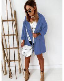 Свободно дамско яке в синьо - код 8686