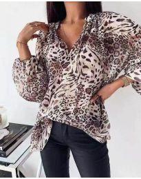 Феерична дамска блуза с животински мотив - код 303