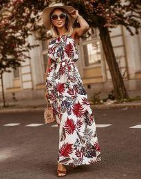 Дълга рокля с атрактивен десен - код 2964 - 2