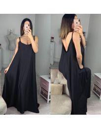 Свободна дълга рокля в черно - код 6600