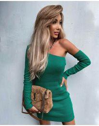 Елегантна рокля в зелено - код 4933