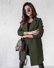 Дамско палто в зелено - код 0964