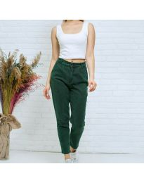 Дамски дънки в маслено зелено- код 8254