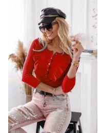 Дамска блуза в червено - код 9792