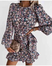 Стилна дамска рокля - код 8114 - 5