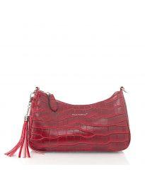 Дамска чанта в бордо - код JW6489