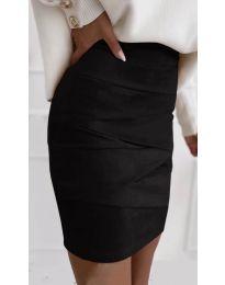 Стилна пола в черно - код 7451