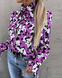 Дамска риза с ефектен десен - код 4287 - 1