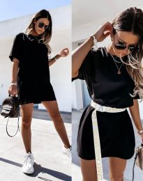 Изчистена дамска рокля в черно - код 8809