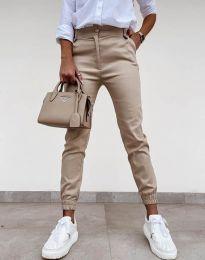 Дамски панталон в бежово - код 4464