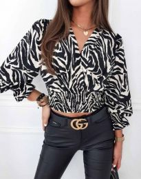 Блуза с ефектен десен - код 0483 - 4