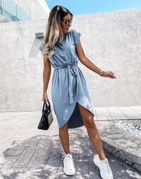 Дамска рокля в светлосиньо - код 2074