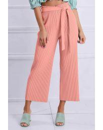 Ефирен панталон в розово - код 4512