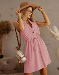 Елегантна рокля в цвят пудра - код 2702