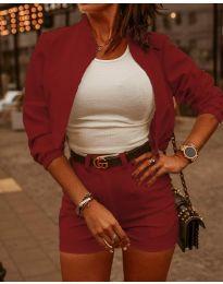 Дамски комплект в цвят бордо - код 9960