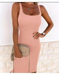 Елегантна рокля в розово - код 8899