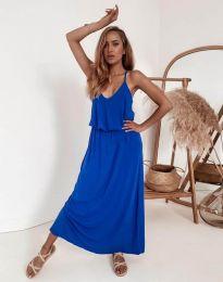 Дълга дамска рокля в синьо - код 11993