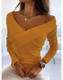 Екстравагантна дамска блуза в оранжево - код 0308