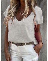 Дамска тениска в сиво - код 0589