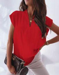 Атрактивна дамска блуза в червено - код 1745
