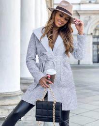 Дамско палто в сиво - код 4973