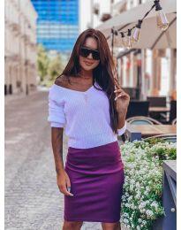 Дамски пуловер в бяло - код 1099