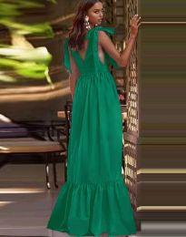 Дълга рокля в зелено - код 2743