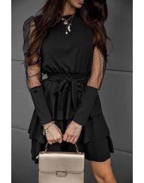 Елегантна рокля в черно - код 8384